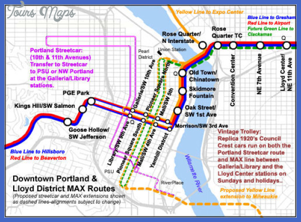 downtownportlandrail Portland Subway Map