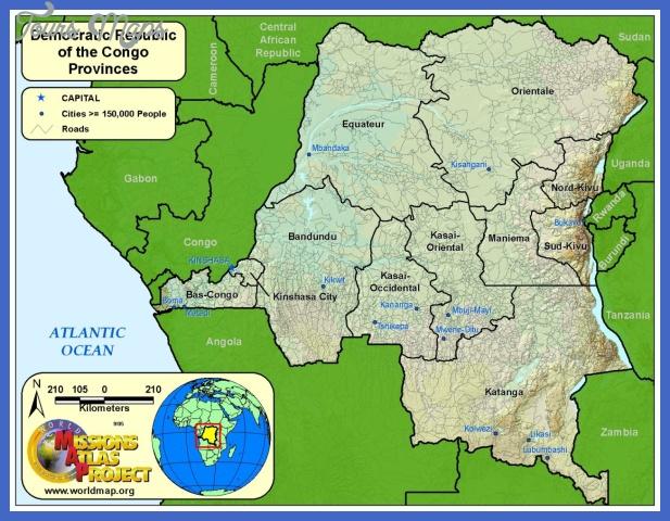 drc provinces Congo, Democratic Republic Map