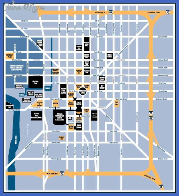 Indianapolis Map Tourist Attractions ToursMapsCom – Tourist Attractions Map In Indiana
