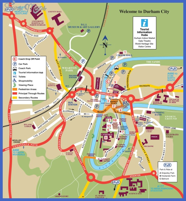 durham tourist map 2012 Durham Map