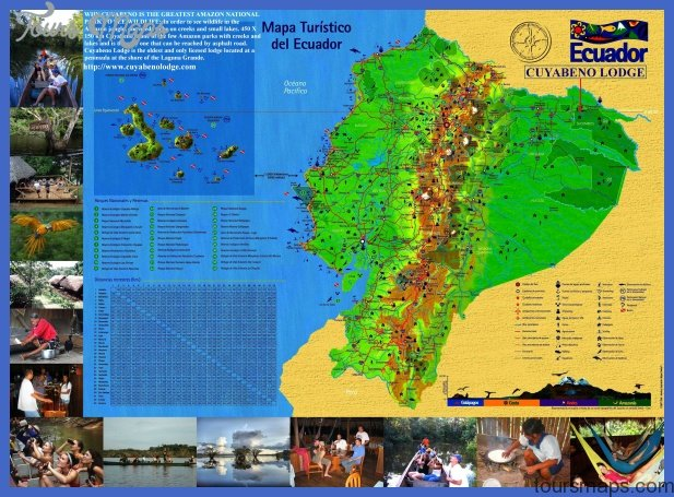 Ecuador Map Tourist Attractions ToursMapsCom – Tourist Attractions Map In Ecuador