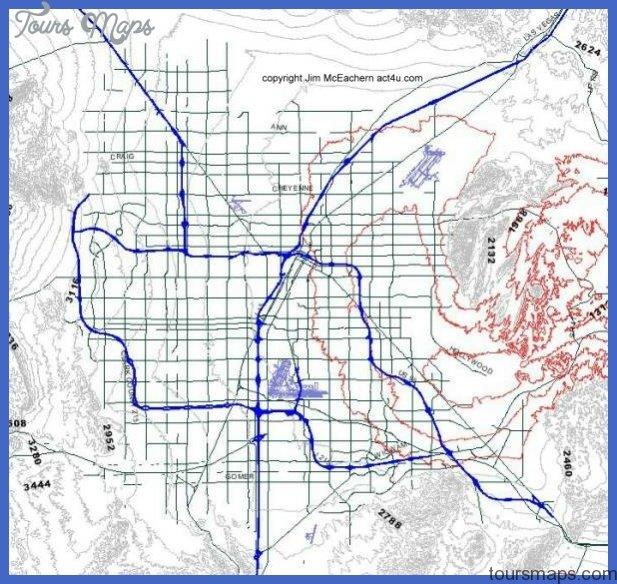 elevation Las Vegas Metro Map