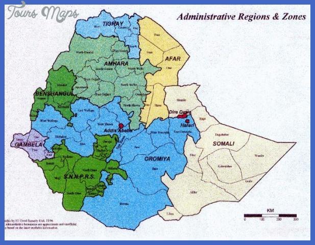 ethiopia map 1 Ethiopia Map