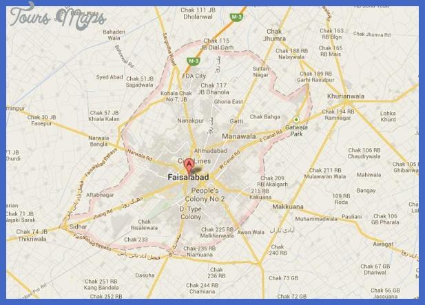 faisalabad city street map Pakistan Metro Map