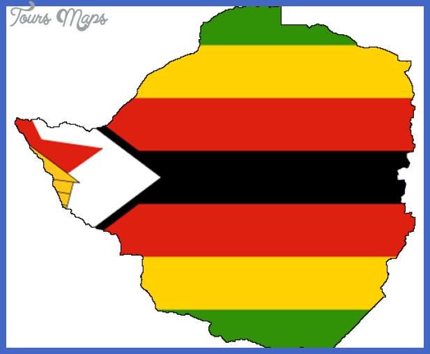 flag map of zimbabwe 508x415 Zimbabwe Metro Map