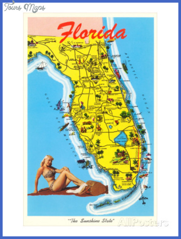 Miami Map Tourist Attractions ToursMapsCom – Florida Tourist Attractions Map