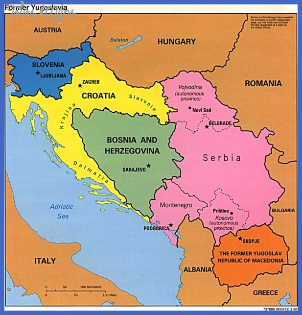 fm yugoslavia pol96 Serbia Map