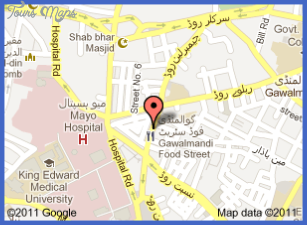 food street lhr Lahore Map Tourist Attractions