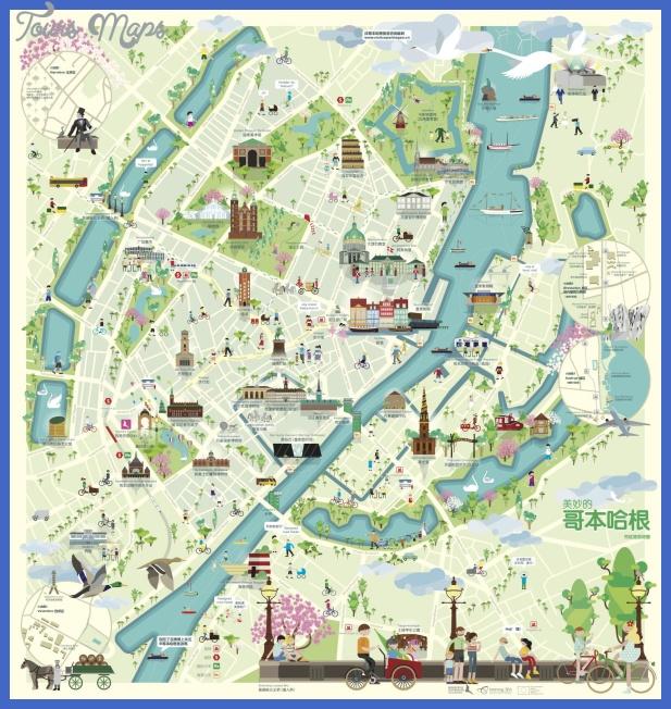 forside 2 trykklar Copenhagen Map Tourist Attractions
