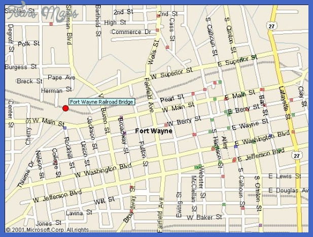 fort wayne map 3 Fort Wayne Map