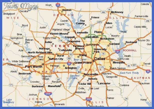 fort worth metro map 2 Fort Worth Metro Map