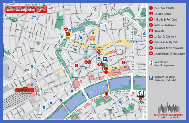 frankfurt sightseeing map bnhspinecom