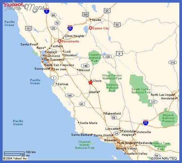 fresno california map Fresno Map