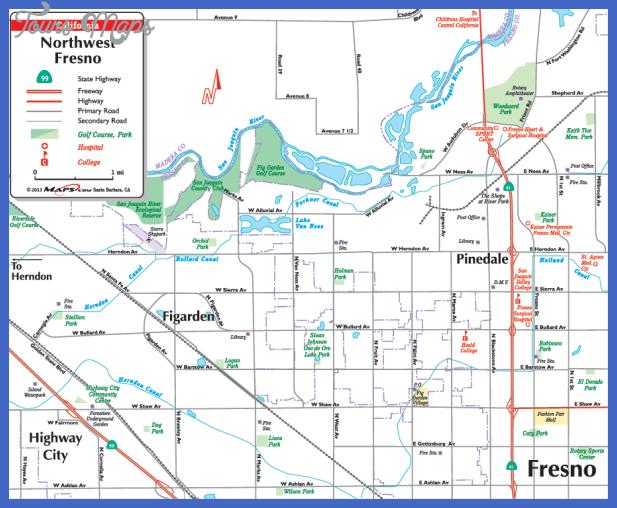 fresno map  1 Fresno Map
