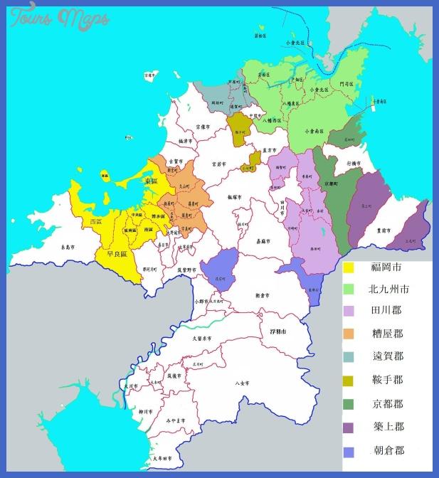 fukuoka map zh Fukuoka Map