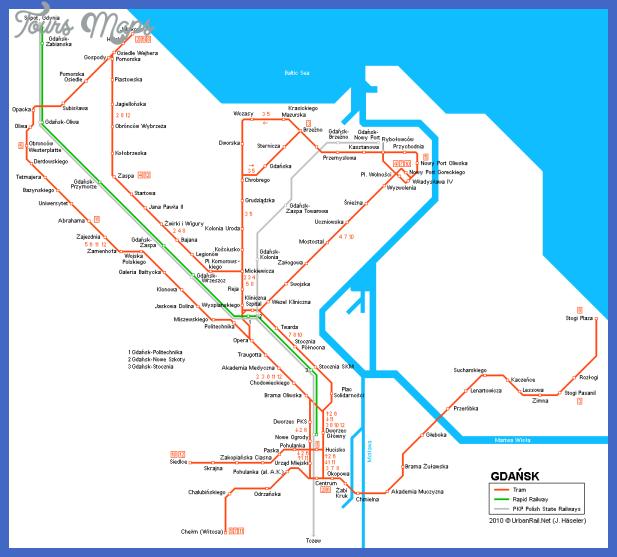 gdansk map tram big Katowice Metro Map