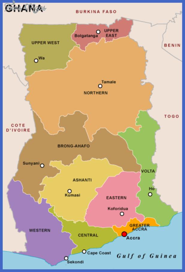 Ghana Map ToursMapscom - Ghana map