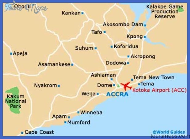 ghana accra map Accra Map Tourist Attractions