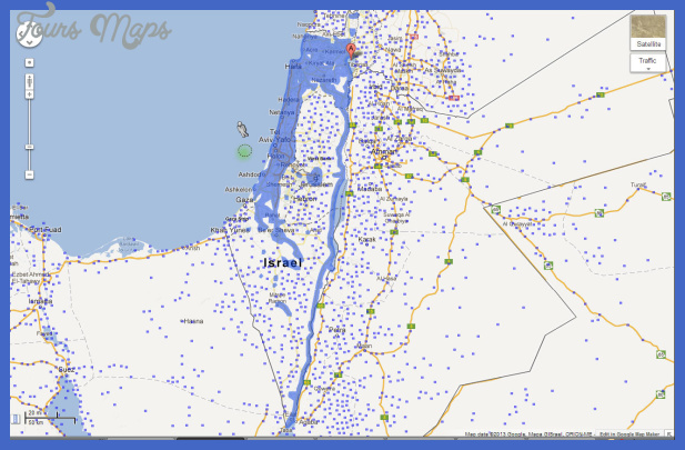Israel Map Tourist Attractions ToursMapsCom – Tourist Map of Israel