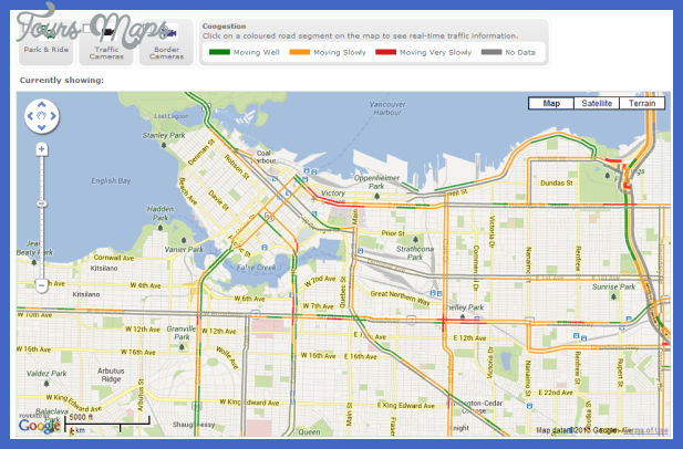 gps real time vancouver traffic map Vancouver Metro Map