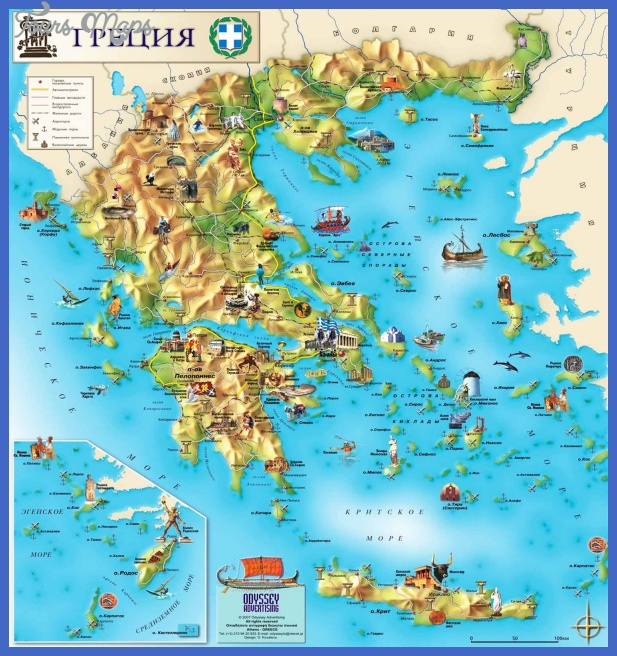 Greece Map Tourist Attractions Toursmaps Com