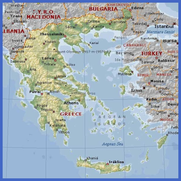 Geographical map of Greece and Greece informations 591 x 591 - 69.2 k ...