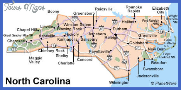 Greensboro Map Tourist Attractions ToursMapscom