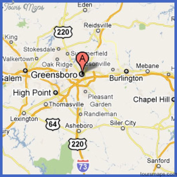 Greensboro Map ToursMapscom