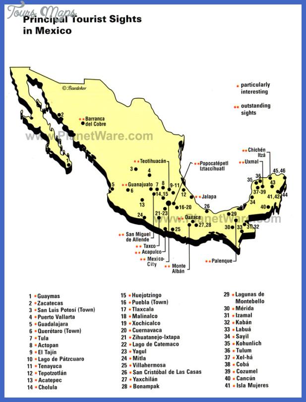 Guadalajara Map Tourist Attractions ToursMapscom