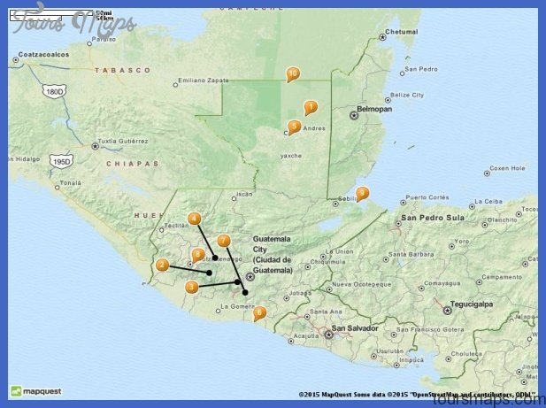 Guatemala Map Tourist Attractions ToursMapsCom – Tourist Attractions Map In Guatemala
