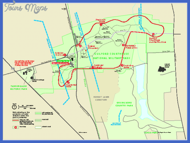 guilford courthouse national military park official map mediumthumb pdf Greensboro Map Tourist Attractions
