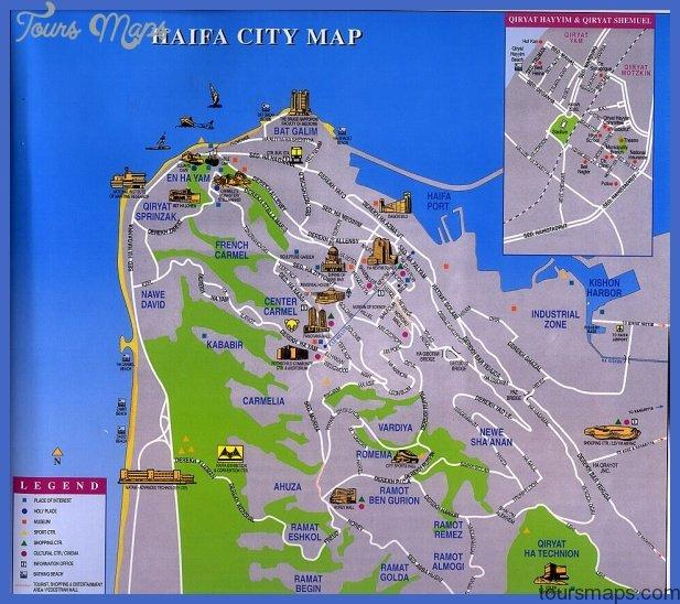 haifa map jpg Israel Subway Map