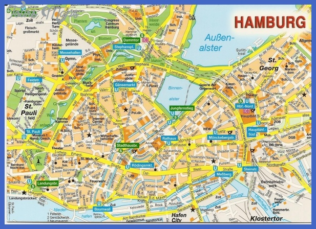 Street map of Hamburg , Tourist map of Hamburg , Hotels in Hamburg map ...