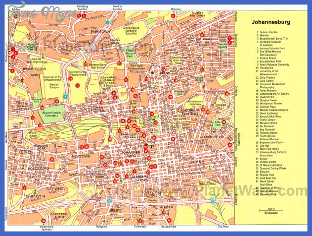 harare map tourist attractions 2 Harare Map Tourist Attractions