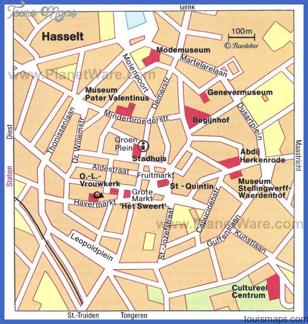 hasselt map Brussels Map Tourist Attractions
