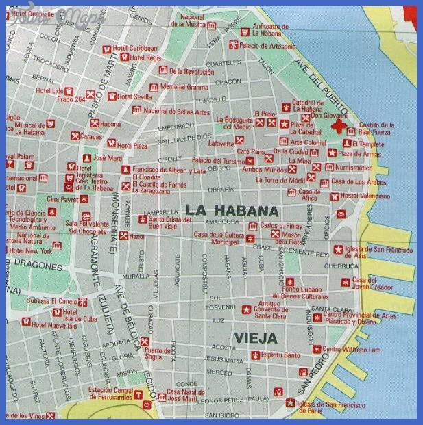 havana vieja map Cuba Subway Map