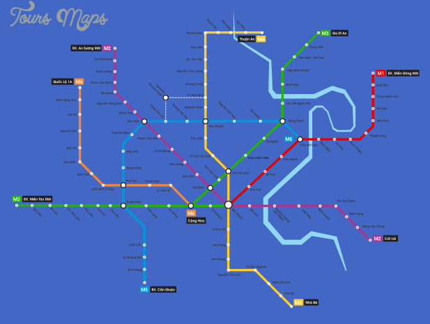 ho chi minh city metro map  0 Ho Chi Minh City Metro Map