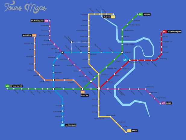 ho chi minh city subway map  0 Ho Chi Minh City Subway Map