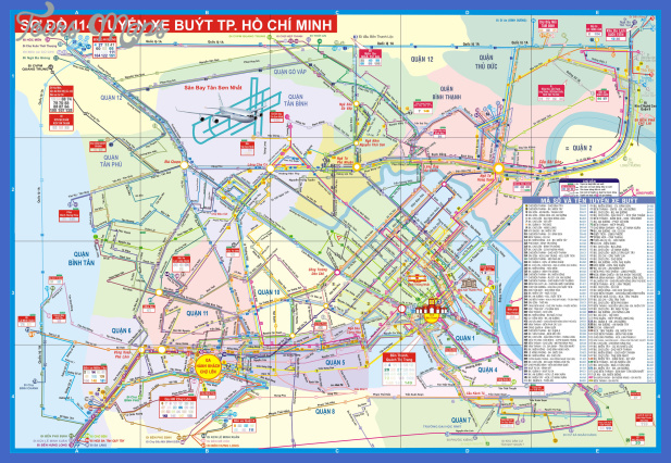ho chi minh tourist map 2 Ho Chi Minh City Metro Map