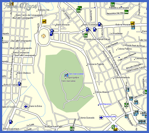 honduras gps mapa Honduras Map Tourist Attractions
