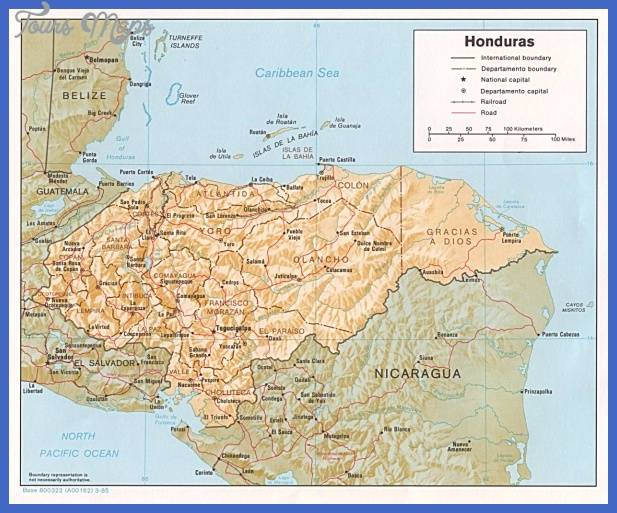 honduras map tourist attractions 1 Honduras Map Tourist Attractions