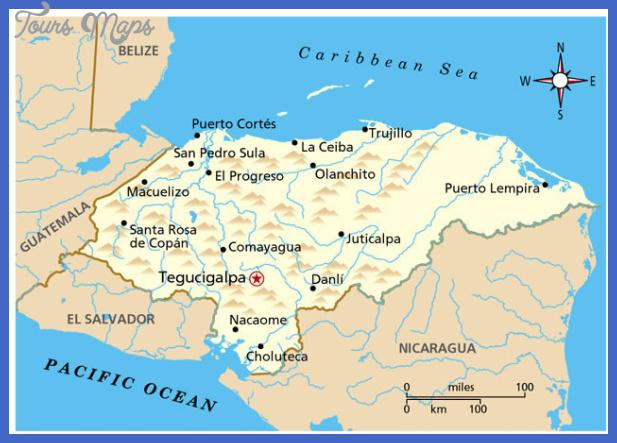 honduras map  Honduras Map