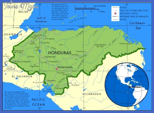 hondurasmap Honduras Map