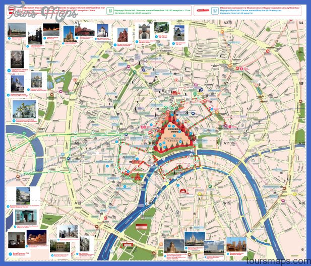 hop on hop off moscow Moscow Map Tourist Attractions