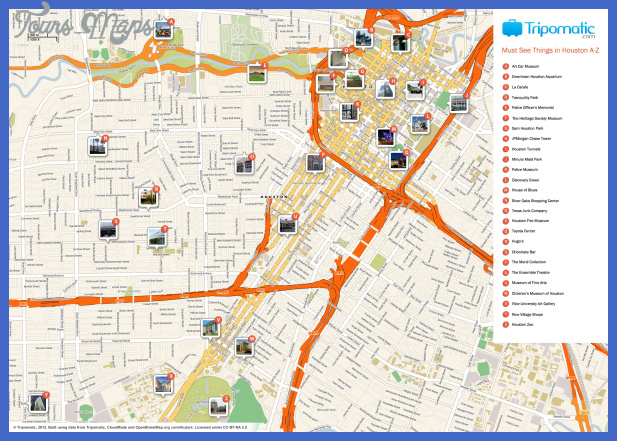 houston attractions map large Houston Map Tourist Attractions