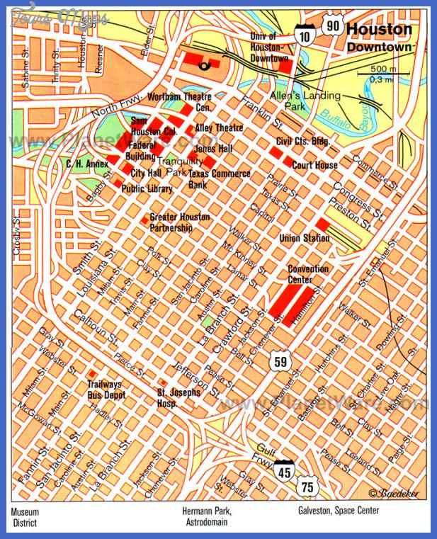 houston map Houston Map Tourist Attractions