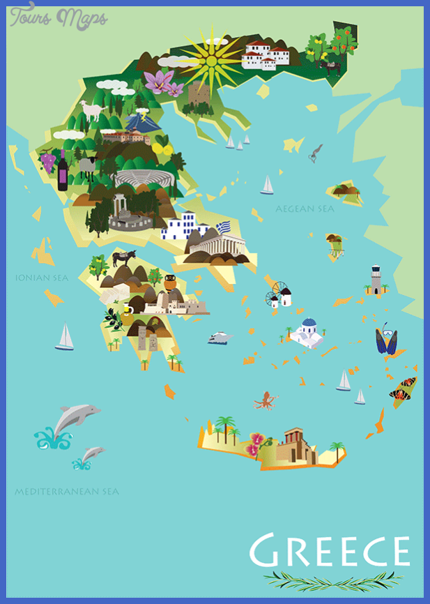 illmap Greece Map Tourist Attractions