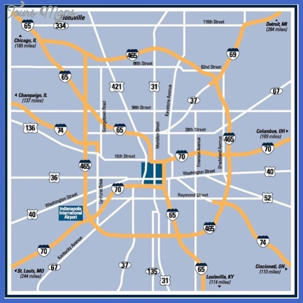indianapolis map  7 Indianapolis Map