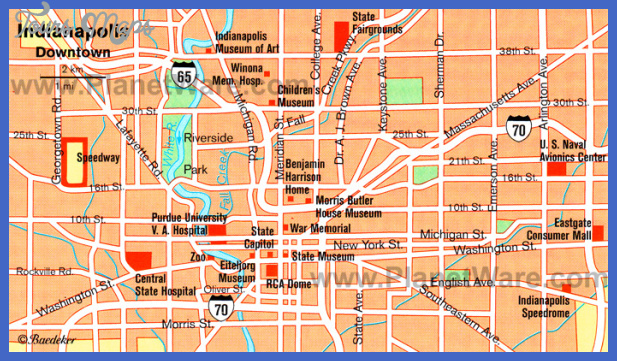 Indianapolis Map Tourist Attractions ToursMapsCom – Indianapolis Tourist Attractions Map