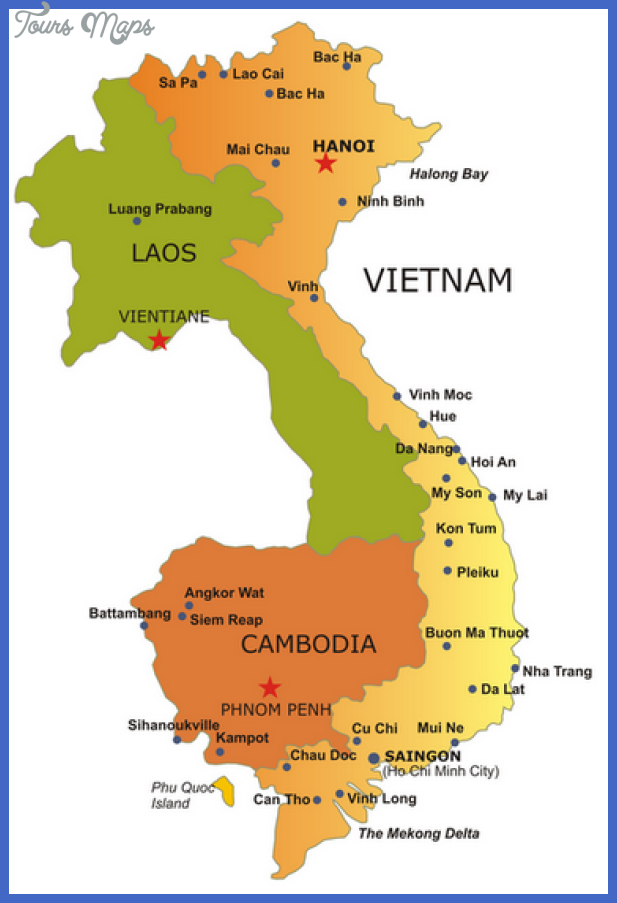 Vietnam Map Tourist Attractions ToursMapsCom – Tourist Attractions Map In Vietnam